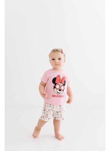 Minnie Mouse Lisanslı Bebek Takım 17335 Pembe
